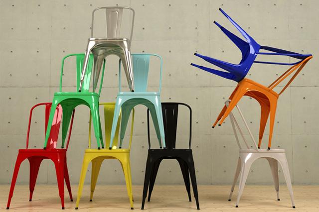 Tolix chairs 3D_Alvaro de la Cruz